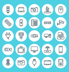 Device icons set collection of surveillance vector