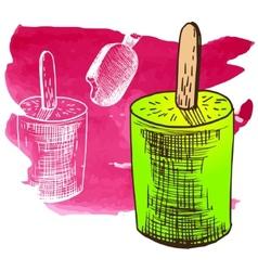 Doodle ice cream frozen dessert style sketch vector image vector image