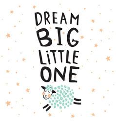 Dream big sheep vector