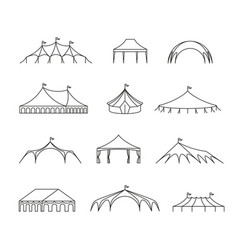 Event and wedding outdoor marquee tents vector