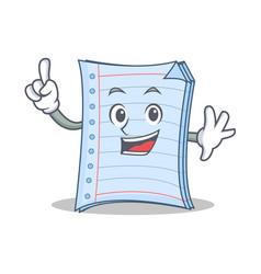 Finger notebook character cartoon design vector
