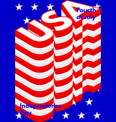 Fourth of july usa independence day modern poster vector