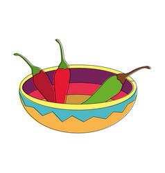 Isolated chili pepper design vector