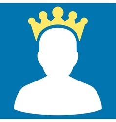 King icon from competition success bicolor icon vector