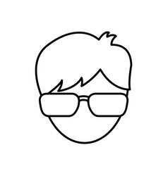 Man wearing glasses icon vector