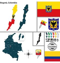 Map of bogota vector