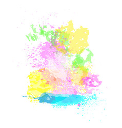 Paint splash happy holi religious india holiday vector