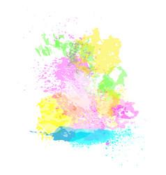 Paint splash happy holi religious india holiday vector