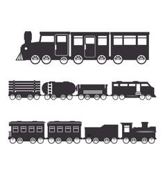railroad train isolated icon design vector image