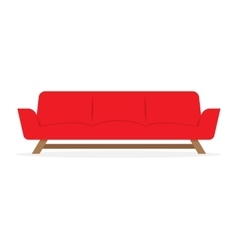red sofa isolated vector image