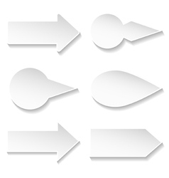 set of paper arrows vector image vector image
