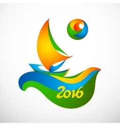 Sign rio olympic games 2016 vector