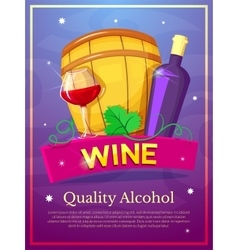 Wine poster vector image vector image