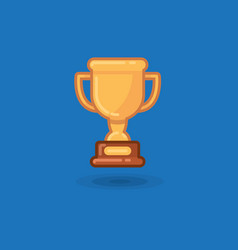 winner cup award on a blue vector image