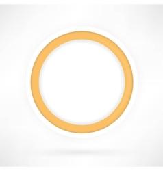 yellow paper circle vector image