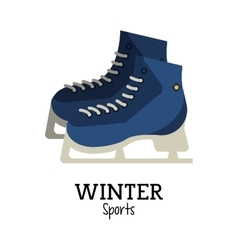 Ice skate and winter sport design vector