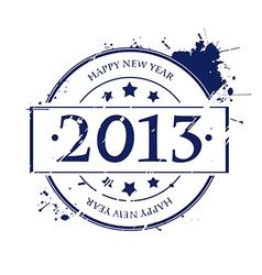 2013 rubber stamp vector image