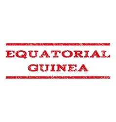 Equatorial guinea watermark stamp vector