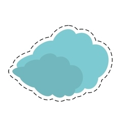 Travel cloud weather concept cut line vector