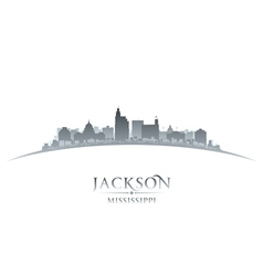 Jackson Mississippi city skyline silhouette vector image