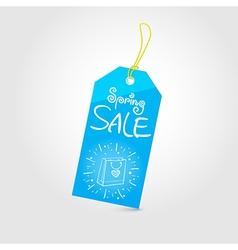Spring sale tag 01 vector image