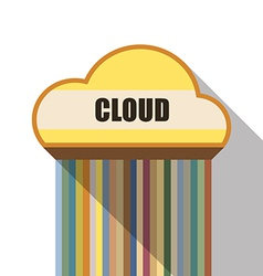 Cloud symbol flat design vector