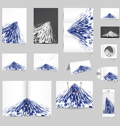 Abstract stationery template design vector