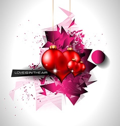 Happy valentines day background with lovely hearts vector