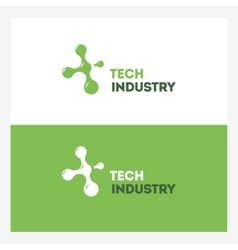 Abstract technology logo design template vector