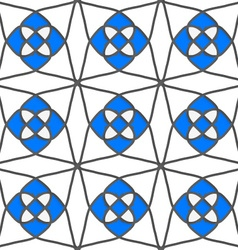 White geometrical ornament with gray and blue vector