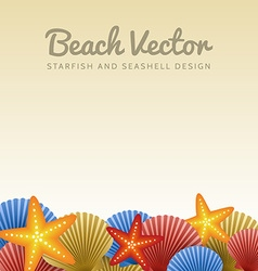 Seashells and starfishes vector image