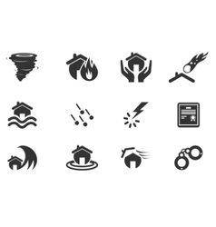 Home Insurance Icons vector image