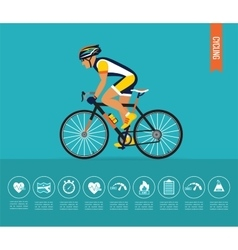 Cyclist on the sports bike bicycle vector