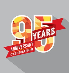 95th Years Anniversary Celebration Design vector image
