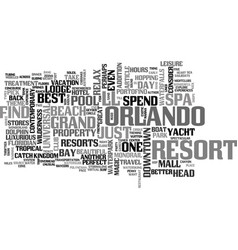 advice for the theme park weary text word cloud vector image vector image