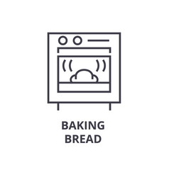 Baking bread line icon outline sign linear vector
