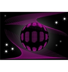 ball in cosmic web vector image