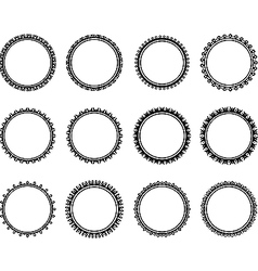 Black and white nice circle vector