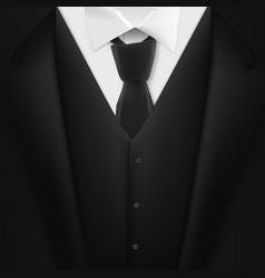 black suit realistic mens tuxedo suit succeed vector image vector image