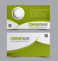 business card design set template vector image