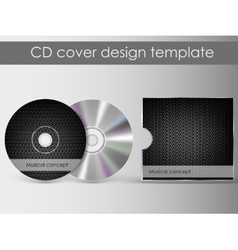 Cd cover presentation design template vector