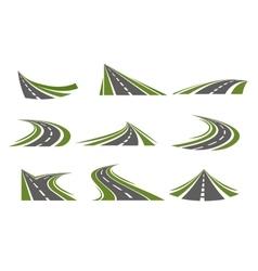 Circumflex Roads Logo Set vector image