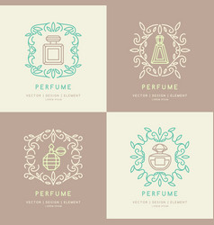 Classic bottle of perfume vector