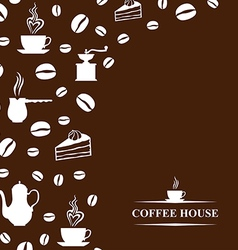 Coffee background brown vector
