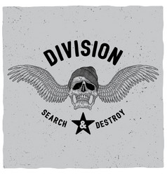 division search and destroy poster vector image vector image