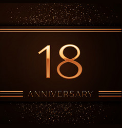 Eighteen years anniversary celebration logotype vector