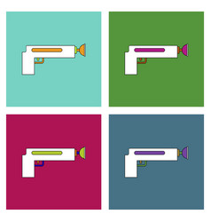Flat icon design collection kids gun vector