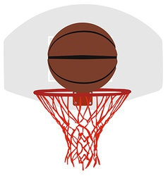 Grey basketball basket and hoop vector image vector image