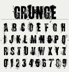grunge fonts vector image vector image