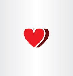 heart symbol icon love element vector image vector image